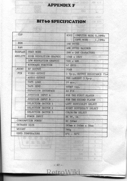 EspecificacionesBIT60